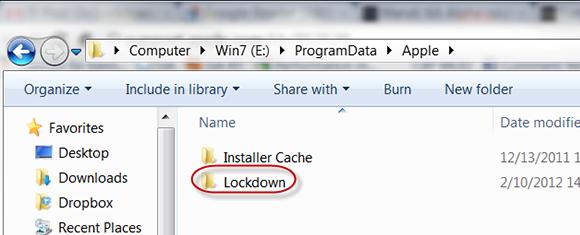 Lockdown folder